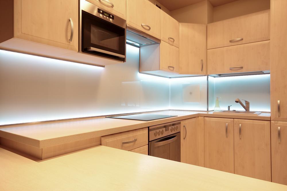 LED Beleuchtung der Küchen Arbeitsplatte
