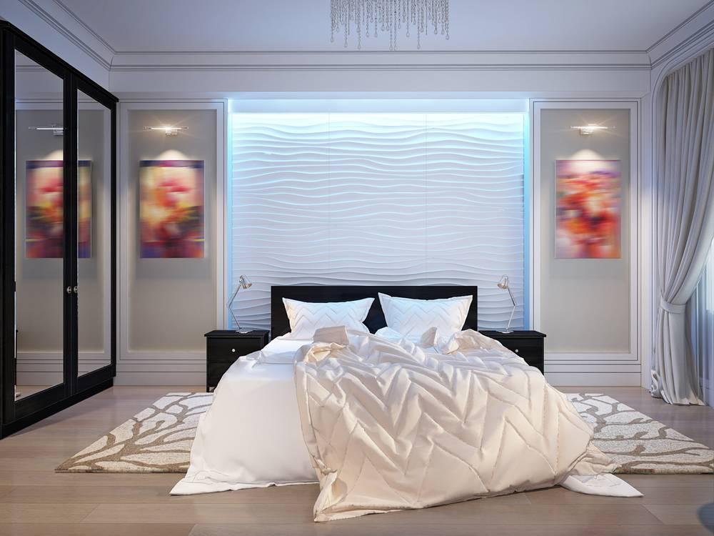 Indirektes LED Licht Effekt Im Schlafzimmer