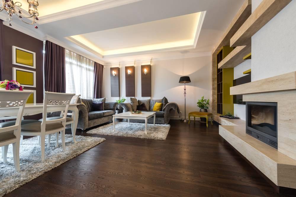 Indirekte Beleuchtung Im Wohnzimmer Und Esszimmer Mit LED