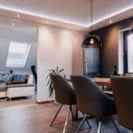 Beispiel Lichtgestaltung Wohnzimmer