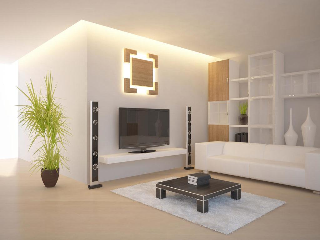 Indirektes Licht im Wohnzimmer