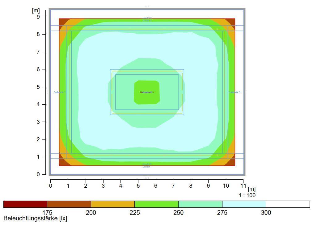 Lichtsimulation Probesaal